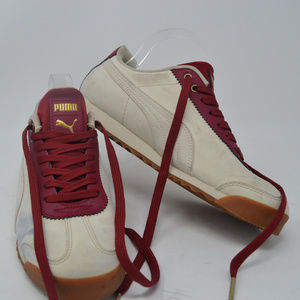 Puma Shoes - Puma Roma men's White and Maroon Sneakers Size 8